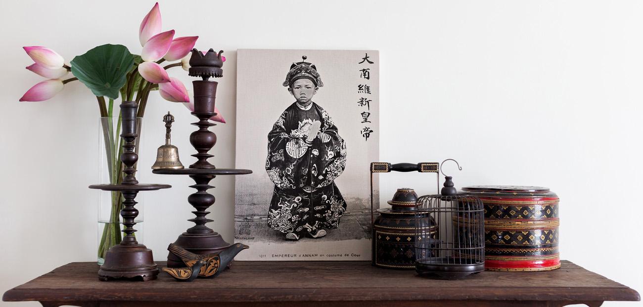 Framed tea towel - Empereur d'Annam