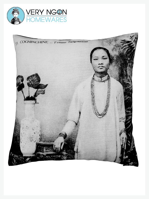 Cushion Cover - Large - Femme Saigonnaise