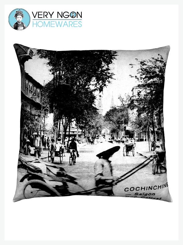 Cushion Cover - Large - Rue Catinat, Saigon