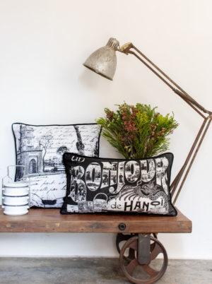 Cushion Cover Rectangular - Bonjour Hanoi & other