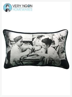 Cushion Cover - Rectangular - Tonkin Brodeurs