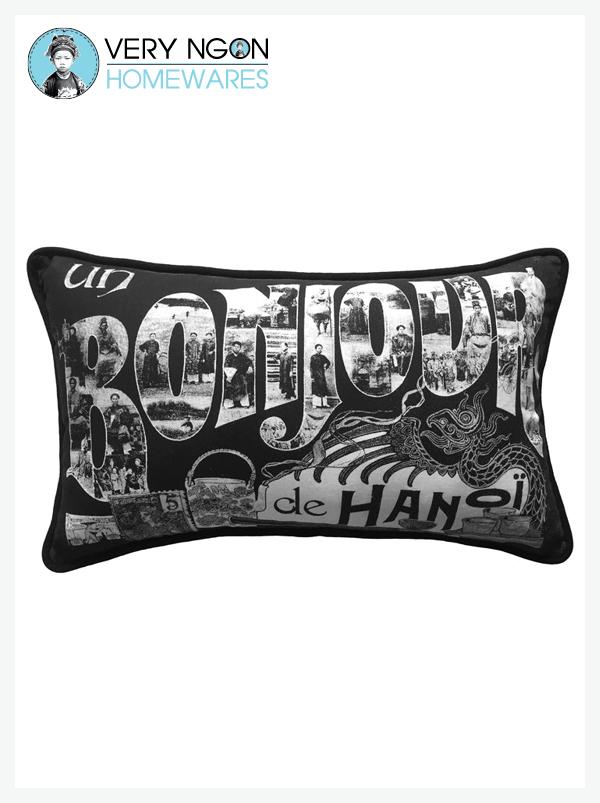 Cushion Cover -Rectangular - Un Bonjour De Hanoi