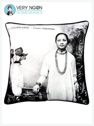 Cushion Cover - Standard w Piping - Femme Saigonnaise