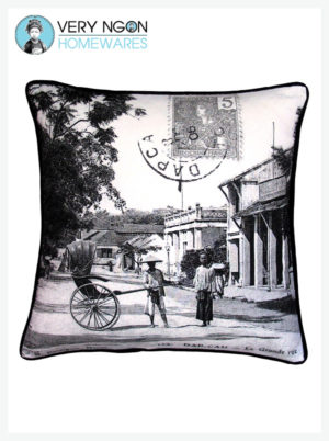 Cushion Cover - Standard w Piping - La Grande Rue, Dap Cau
