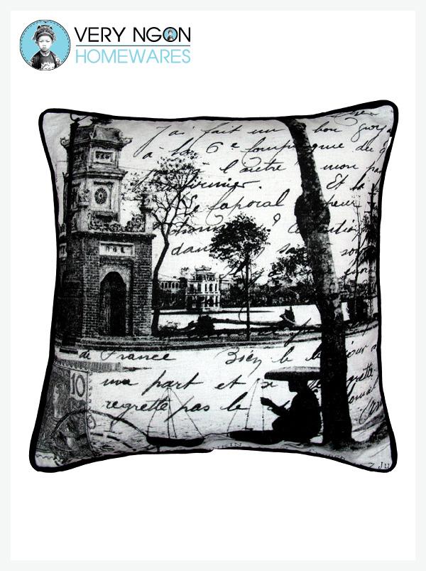 Cushion Cover - Standard w Piping - Petit Lac, Hanoi