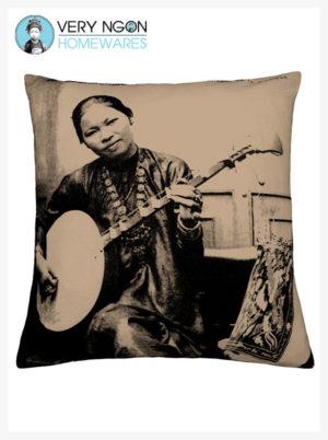 Cushion cover beige Dame Annamite - incense