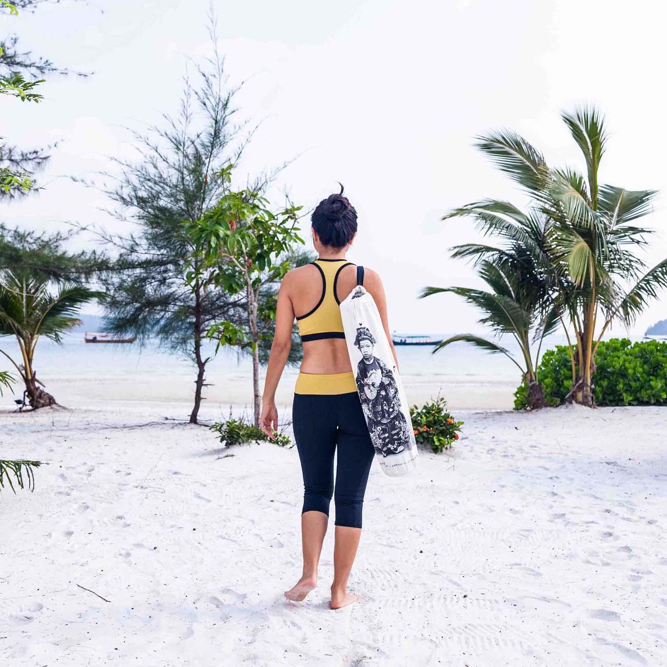Indochine B&W Yoga Mat Bag
