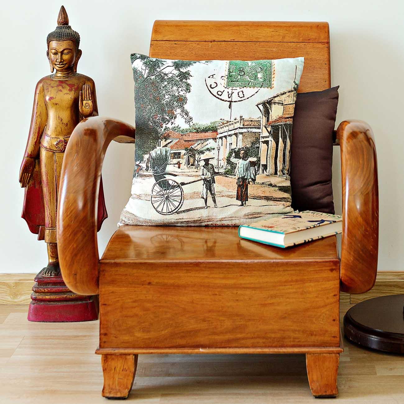 Indochine Colour Cushion Cover Dap Cau