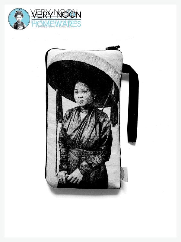 Phone Pouch - Femme au Grande Chapeau