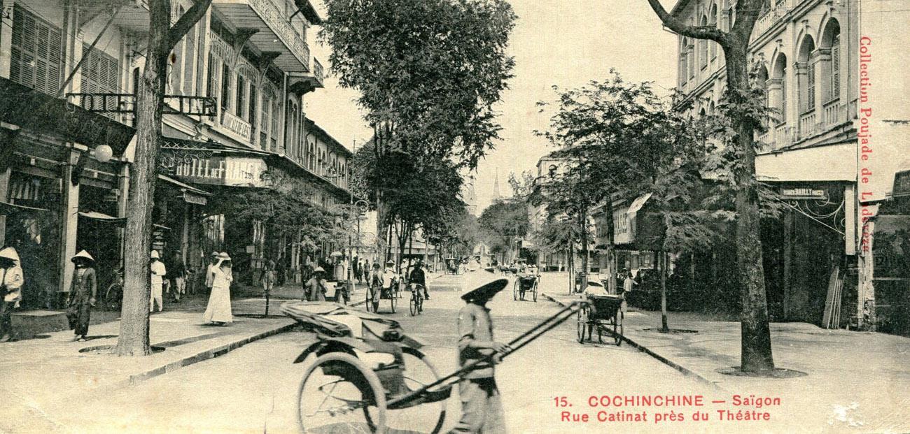Rue Catinat Saigon - Dong Khoi postcard