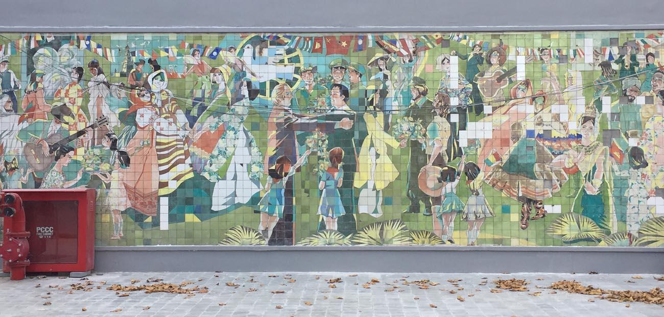 Friendship House mosaic wall