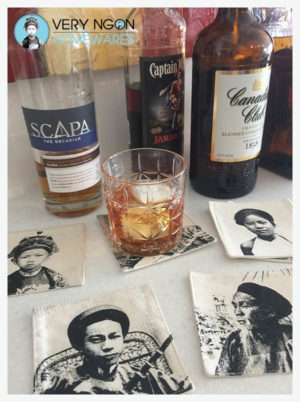 Coasters & a glass of scotch